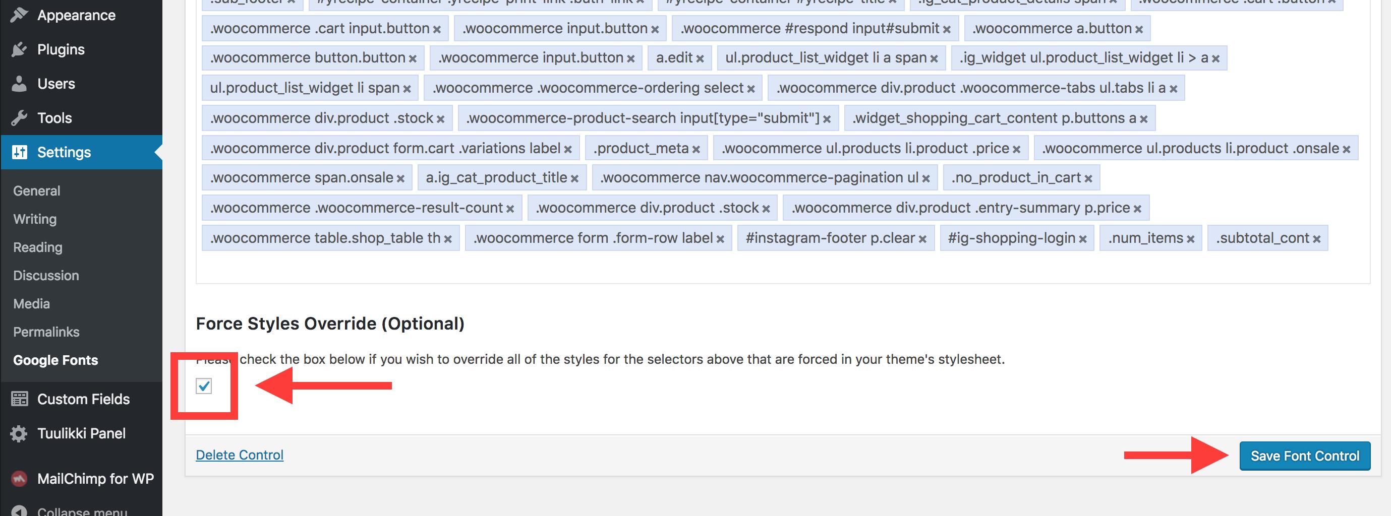How do I change my theme's fonts? « Tuulikki Documentation