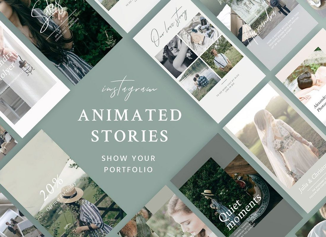 portfolio animated instagram stories