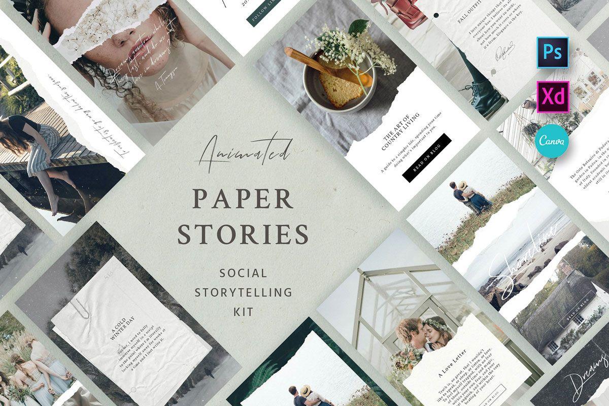 paper animated social kit